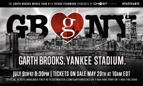 Garth Brooks Yankee Stadium