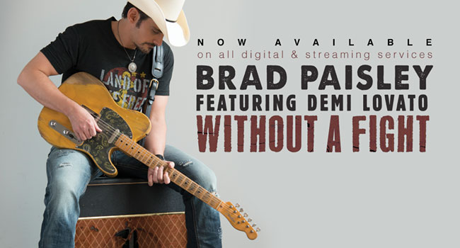 Brad Paisley releases 'Without A Fight' with Demi Lovato | The Music Universe