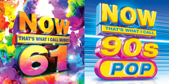 'NOW 61', 'NOW 90s Pop' available Jan 27th - The Music Universe