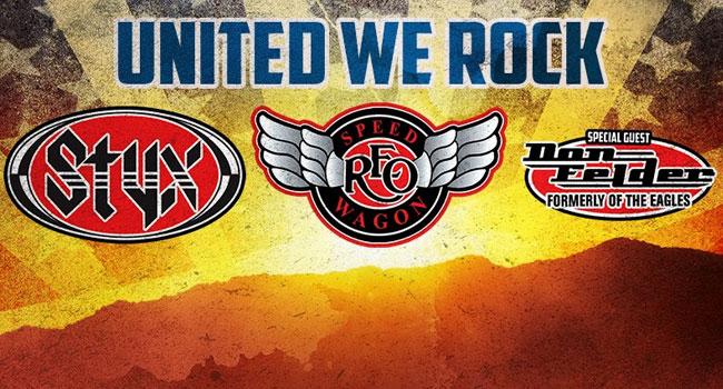 Styx, REO Speedwagon, Don Felder United We Rock Tour