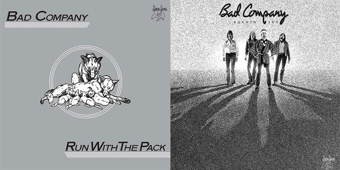 bad company 39 rock steady 39 39 run with the pack 39 reissues detailed the music universe. Black Bedroom Furniture Sets. Home Design Ideas
