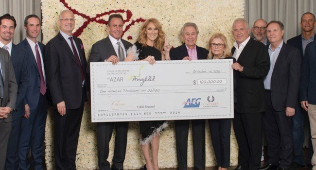 Celine Dion celebrates 1,000 shows at Caesars Palace
