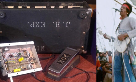 Jimi Hendrix wah pedal, amplifier at auction