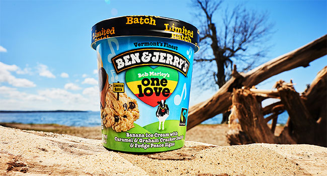 Bob Marley-inspired One Love by Ben & Jerry's