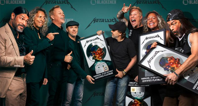 Blackened Recordings Execs/Metallica