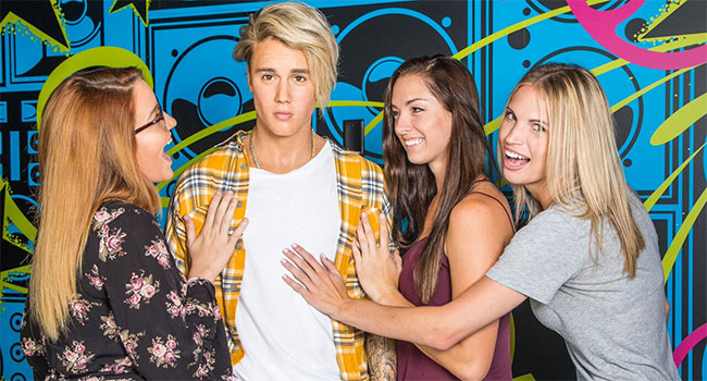 Justin Bieber's wax figure at Madame Tussauds Orlando