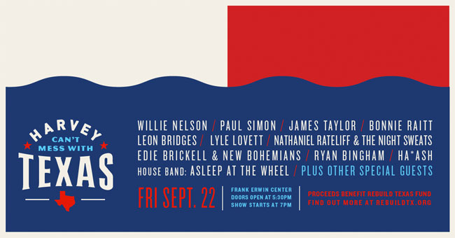 Willie Nelson, Paul Simon & Others Sign on for Texas Hurricane Relief Concert