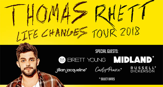Thomas Rhett Life Changes Tour 2018