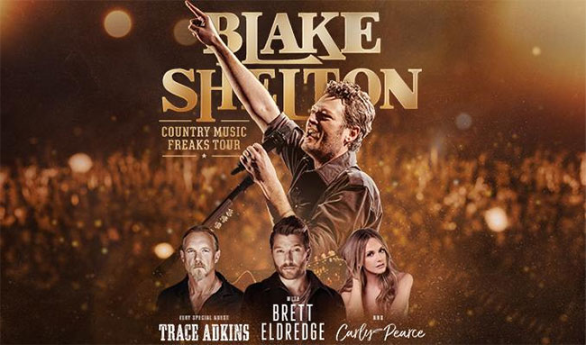 Blake Shelton Country Music Freaks 2018 Tour