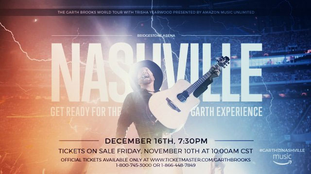 Garth Brooks Announces Nashville Show, More Expected