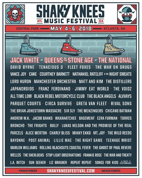Jack White, QOTSA headlining Shaky Knees Fest | The Music Universe