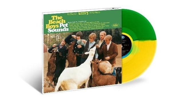 The Beach Boys - Limited Edition Split Translucent Yellow and Green Viny