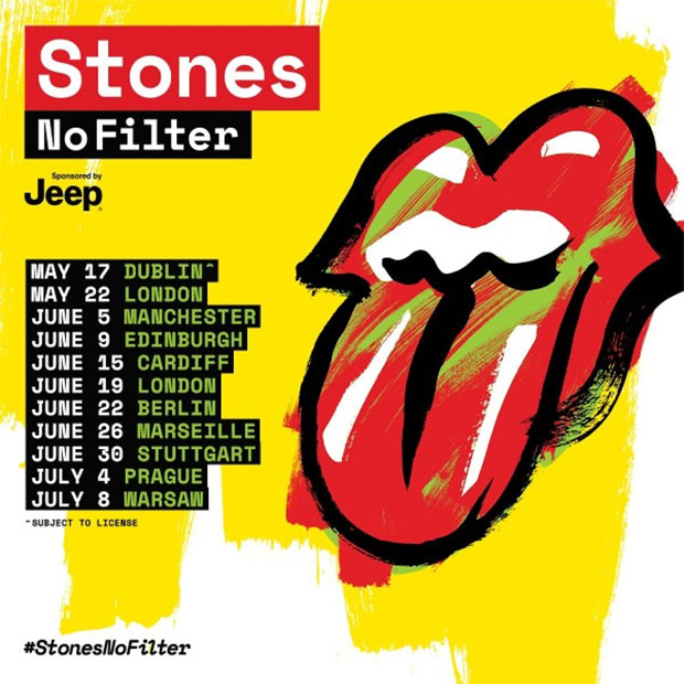 The Rolling Stones announce 2018 No Filter tour dates ... Rolling Stones Tour 2018