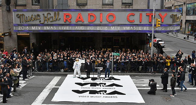 VMAs at Radio City Music Hall
