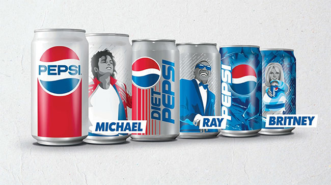 Michael Jackson, Ray Charles, Britney Spears featured on retro Pepsi cans