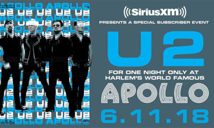U2 performing live at the Apollo for SiriusXM