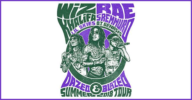 Wiz Khalifa and Rae Sremmurd - Dazed & Blazed Summer 2018 Amphitheater Tour