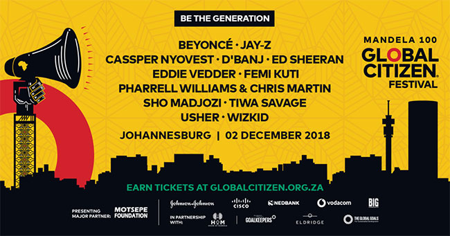 Global Citizens Festival South Africa