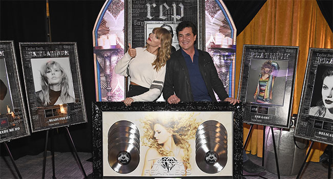 Taylor Swift with Scott Borchetta