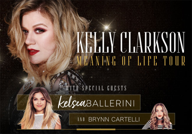 Kelly Clarkson Meaning of Life Tour 2019