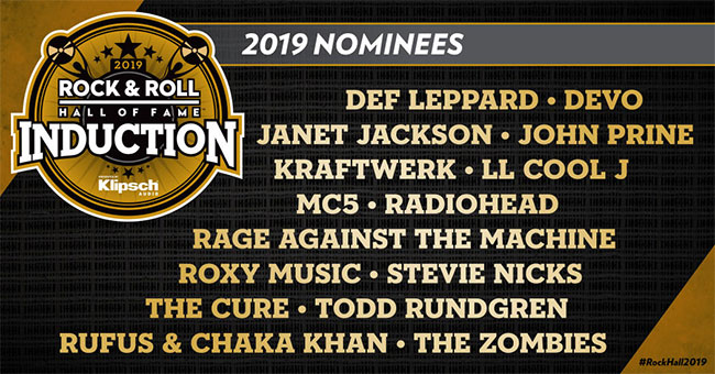 Rock and Roll Hall of Fame Nominees 2019