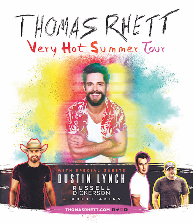 Thomas Rhett - Very Hot Summer Tour 2019