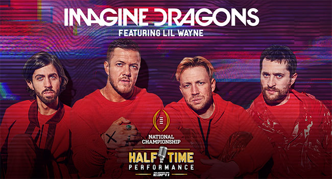 Imagine Dragons at College Football Playoff National Championship Game Presented by AT&T