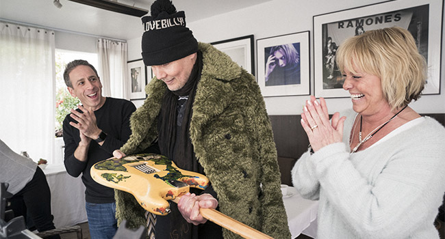 Billy Corgan reunited with lost Fender Stratocaster