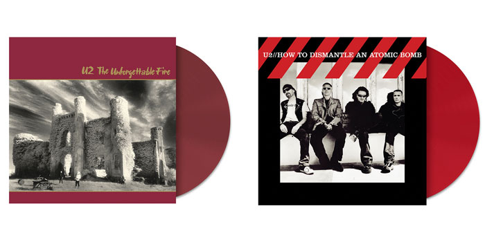 U2 colored vinyl reissues