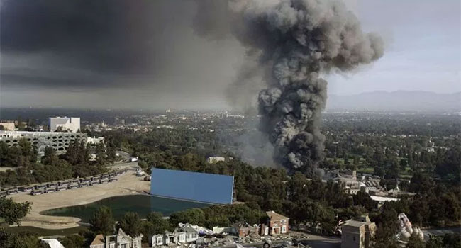Universal Studios Hollywood fire
