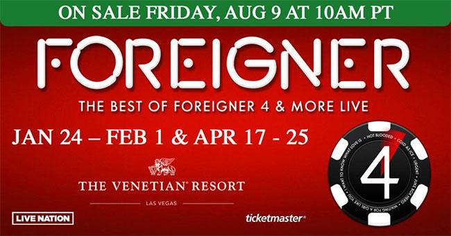 Foreigner 2020 Las Vegas Residency
