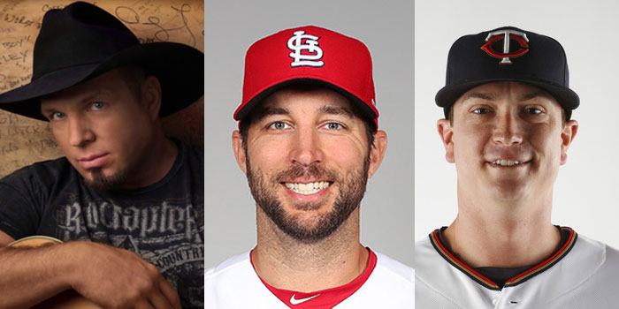Garth Brooks, Adam Wainwright, Kyle Gibson