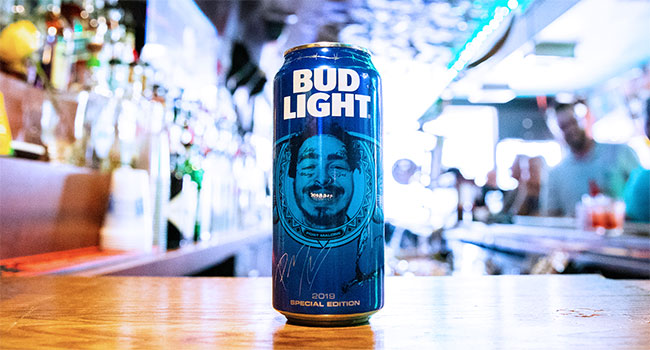 Bud Light Post Malone Can