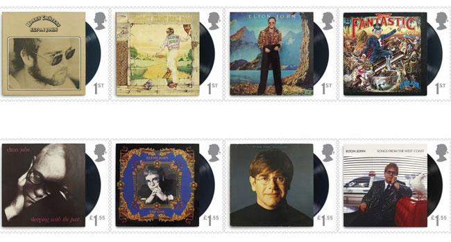 Elton John Stamps