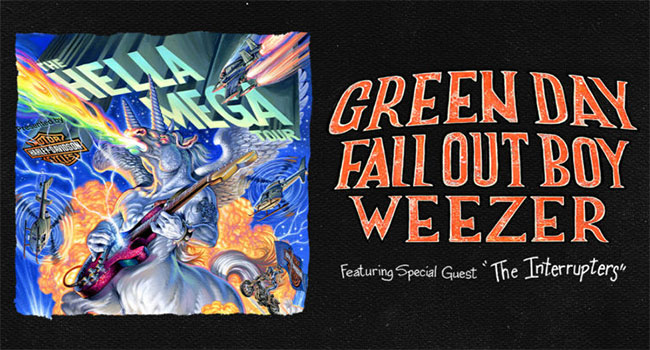 Green Day, Fall Out Boy, Weezer - The Hella Mega Tour