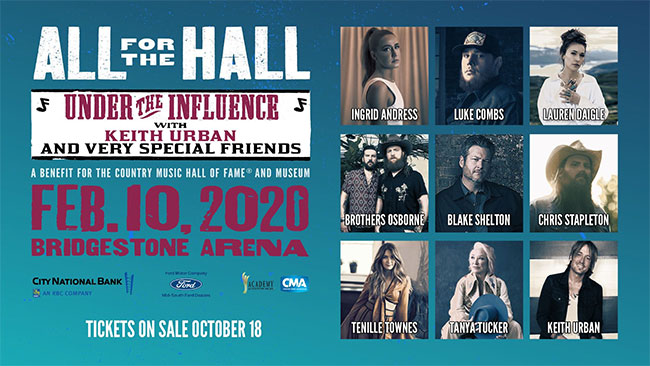 Chris Stapleton Tour 2020.Keith Urban Unveils All For The Hall 2020 Lineup The Music