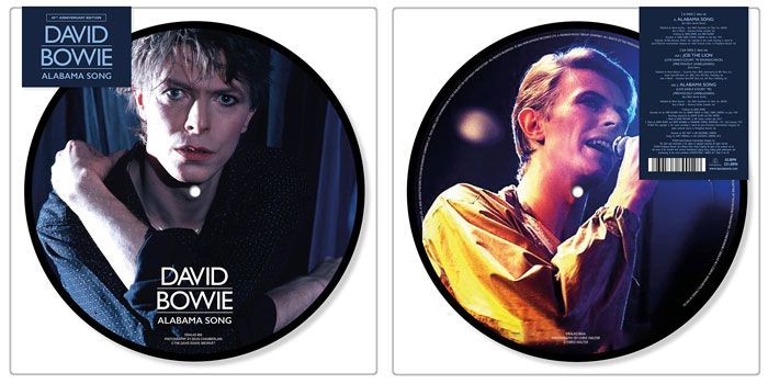 David Bowie - Alabama Song 40th Anniversary Picture Disc