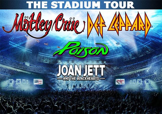 Motley Crue, Def Leppard, Poison Stadium Tour