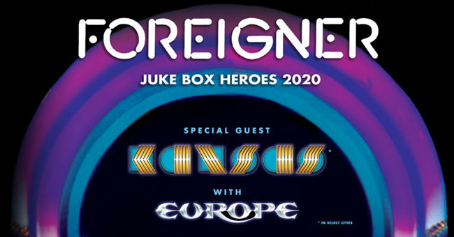 Foreigner, Kansas & Europe - Juke Box Heroes 2020 Tour