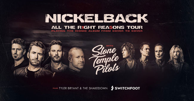 Nickelback All The Right Reasons 2020 Tour