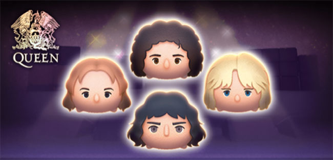 Disney Tsum Tsum Queen Set Stuffed toys Freddie Mercury 2020 Disney Store Japan