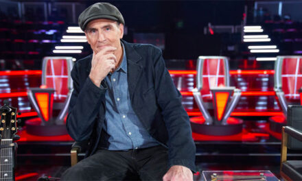James Taylor serving as Mega Mentor on 'The Voice'