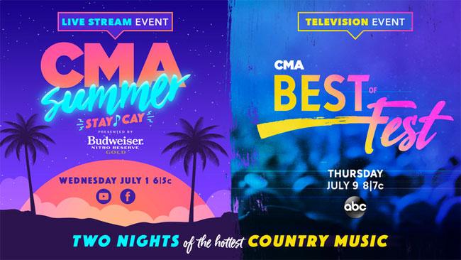 CMA announces ABC, livestream specials