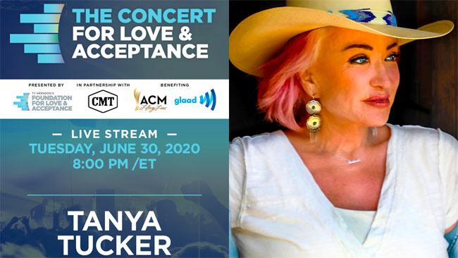 Tanya Tucker headlining 2020 Concert for Love & Acceptance