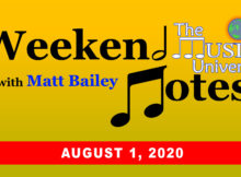 The Music Universe Weekend Notes August 1, 2020