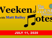 The Music Universe Weekend Notes for July 11, 2020