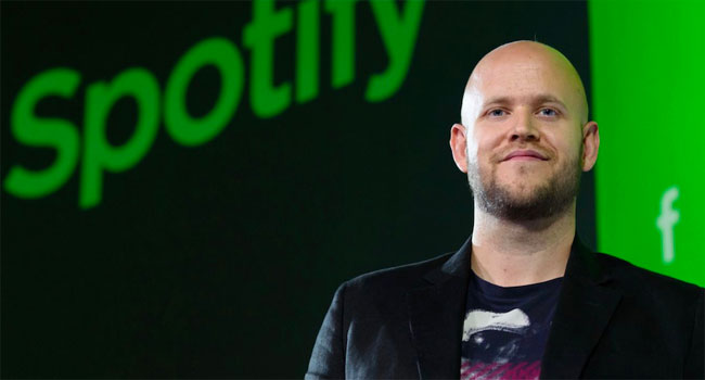 Spotify Technology SA Chief Executive Daniel Ek