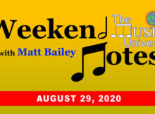 Weekend Notes August 29, 2020