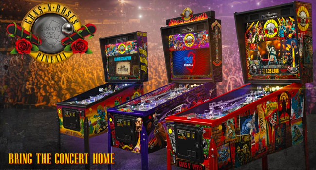 Guns N Roses Not in This Lifetime Pinball Game