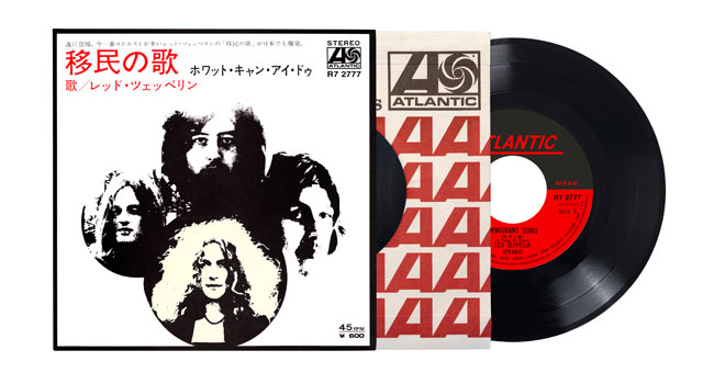 Led Zeppelin announces 'Immigrant Song' Japanese 7-inch single reissue